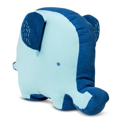 Plush Throw Pillow Elephant - Cloud Island™ Blue
