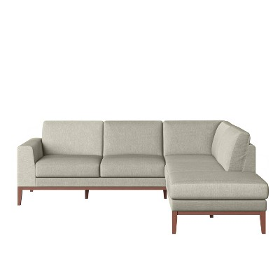 Alani Mid-Century Modern Sectional Sofa with Chaise - Handy Living