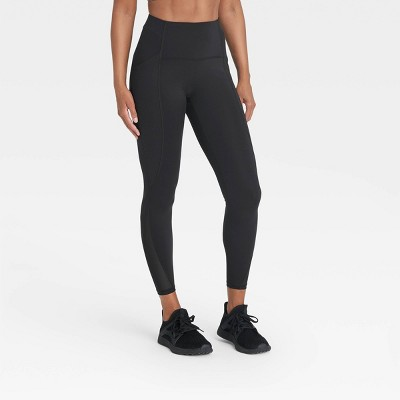 "Women's Sculpted Linear High-Waisted 7/8 Leggings 25"" - All in Motion™"