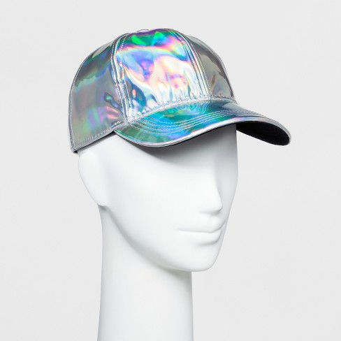 6f12f354e569f Women s Holographic Baseball Hat - Wild Fable™ Iridescent   Target