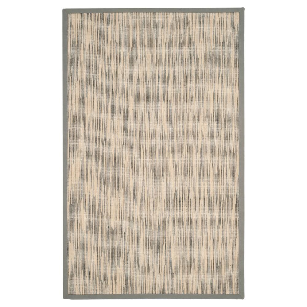 Natural Fiber Rug - Natural/Gray - (6'x9') - Safavieh