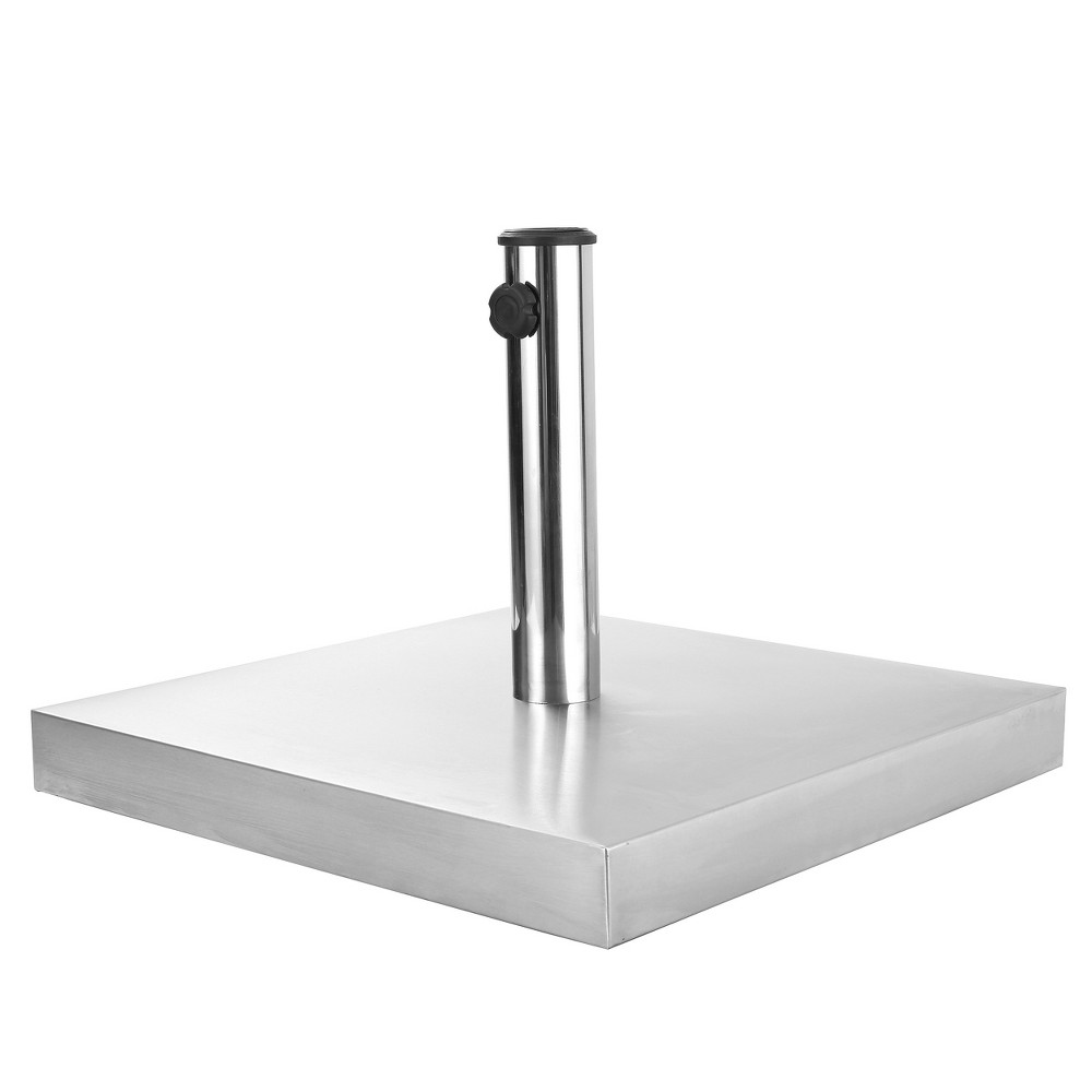 Image of Norco 66lbs Square Stainless Steel Umbrella Base - Steel - Christopher Knight Home