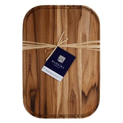 "Architec Madeira Teak Edge-Grain Carving Board 12""x18""x.75"""