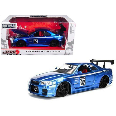 2002 Nissan Skyline Gt R R34 Blue 02 Jdm Tuners 1 24 Cast Model Car By Jada