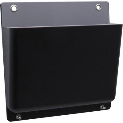 "Advantus Wall File Hanging 12-1/2""Wx3-2/5""Lx12""H Black/Gray 37684"