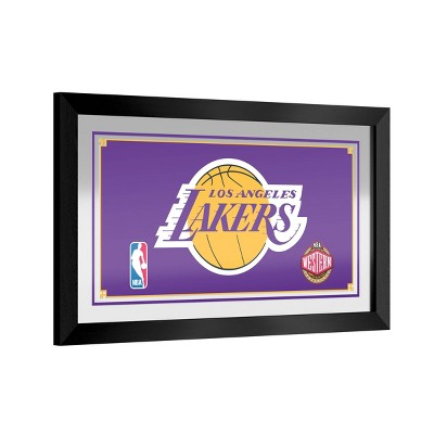 NBA Los Angeles Lakers Team Logo Wall Mirror