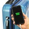"U.S. Traveler 22"" USB Port EZ-Charge Suitcase - Teal - image 2 of 3"