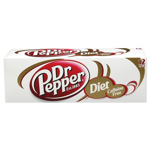 Caffeine Free Diet Dr Pepper - 12pk/12 fl oz Cans - image 1 of 1