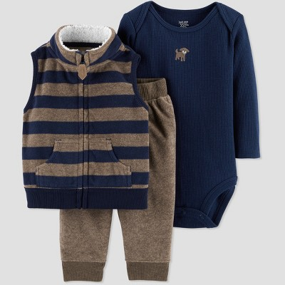 Baby Boys' 3pc Stripe Dog Set - Just One You® made by carter's Blue Newborn