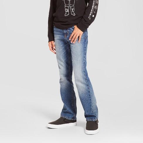 Boys' Bootcut Jeans - Cat & Jack™ Light Wash - image 1 of 5