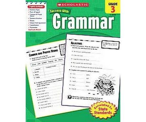 Scholastic Success With Grammar, Grade 3 (Paperback) - image 1 of 1