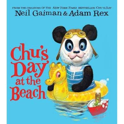 Chu's Day at the Beach Board Book - by Neil Gaiman (Board_book)