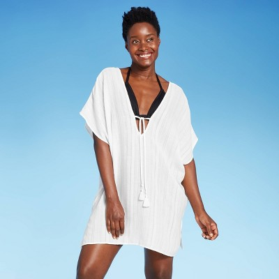 Women's Tie-Front Cover Up Tunic Dress - Kona Sol™