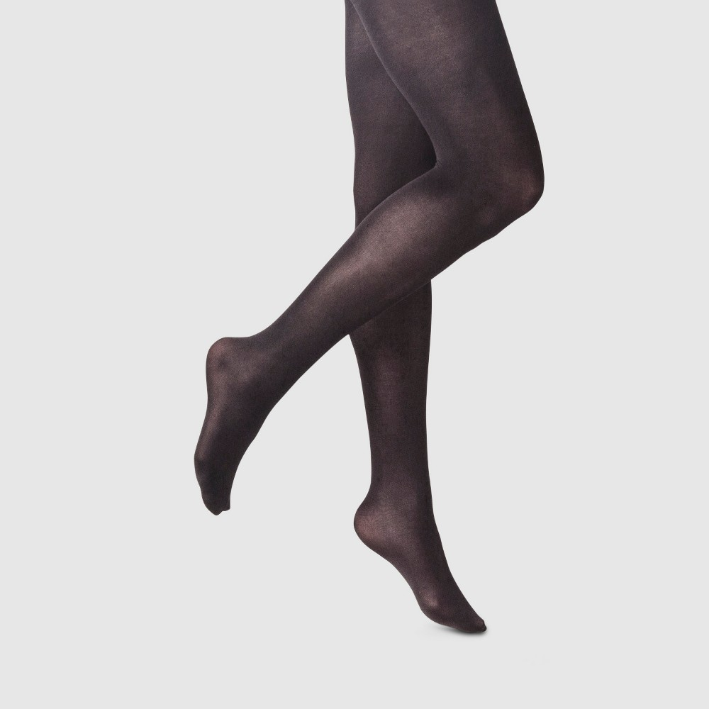 Women's 50D High Waist CT Opaque Tights Socks - A New Day Black M/L