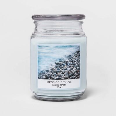 20oz Lidded Glass Jar Seaside Breeze Candle