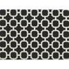 "Outdoor Seat Cushion - Black/White Geometric 19""x17"" - image 2 of 3"