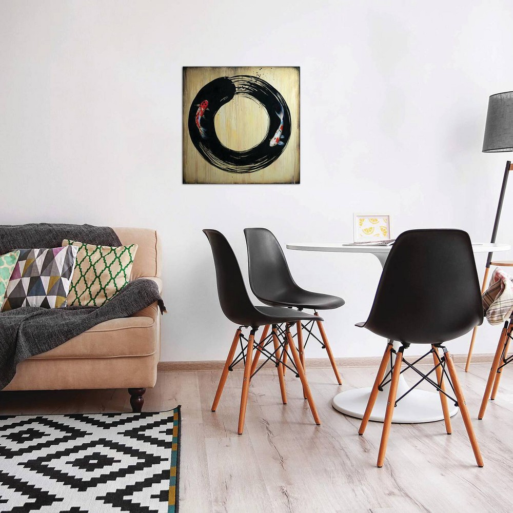 26 34 X 26 34 Enso With Koi By Sandi Baker Unframed Wall Canvas Print Icanvas