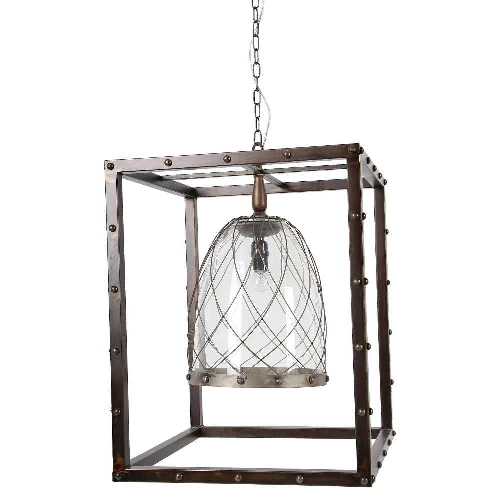 Image of A&b Home Box Chandelier - Pewter (Silver)