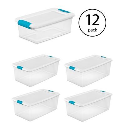 Sterilite 6 Qt Clear Storage Box Container 12 Pack and 106-Qt Storage Box 4 Pack