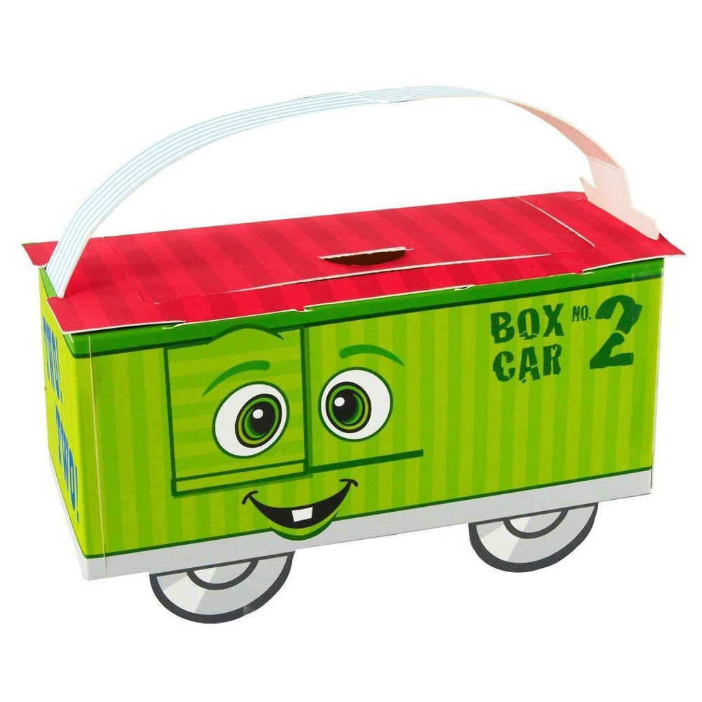 8 ct TwoTwo Train 2nd Birthday Favor Boxes, Multi-Colored
