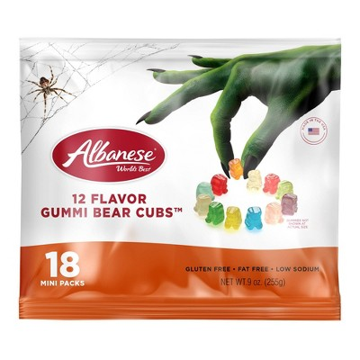 Albanese Halloween 12 Flavor Gummi Bears Cubs Bag - 9oz/18ct
