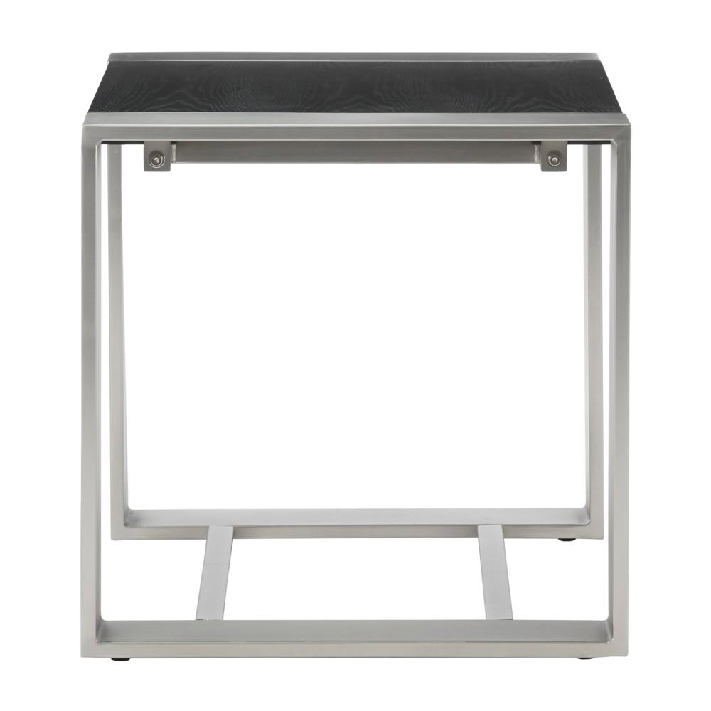 Harvey End Table Black/Silver