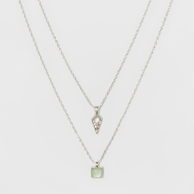 Short Necklace - A New Day™ Silver