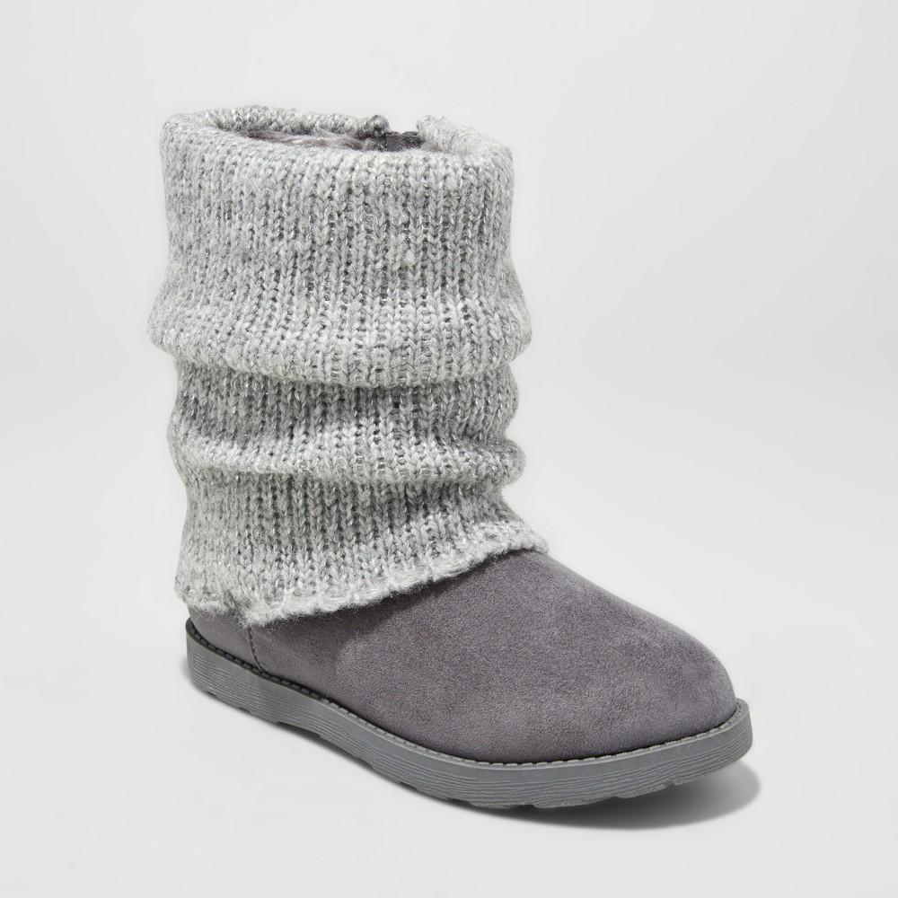 Girls' Glenna Fashion boots - Cat & Jack Gray 13