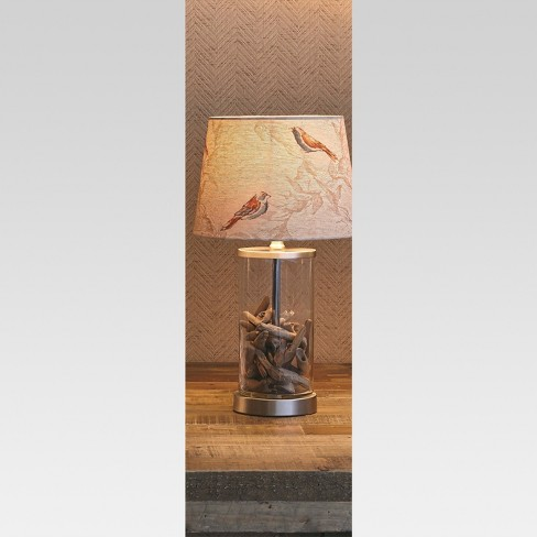 Fillable Glass Small Lamp Base Clear Lamp Only Threshold