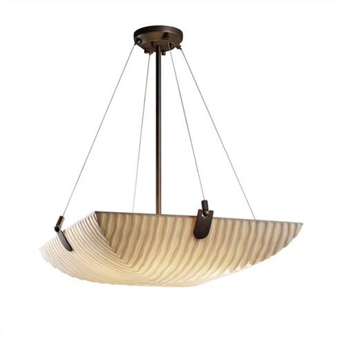 """Justice Design Group PNA-9622-25-WFAL Porcelina 6 Light 27"""" Wide Pendant - image 1 of 1"""