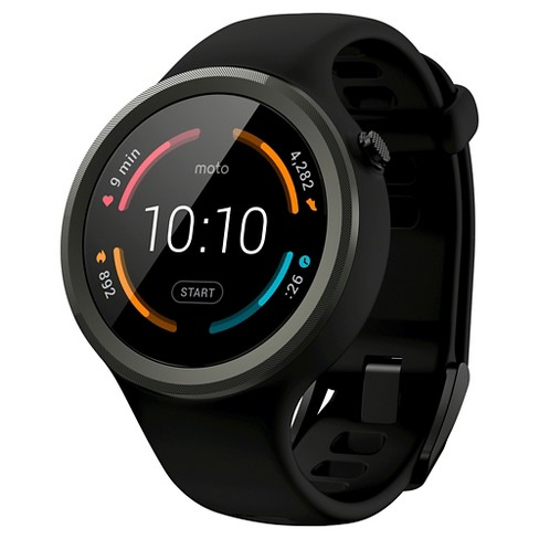 Moto 360 Sport Smartwatch 45mm Silicone - Black - image 1 of 3