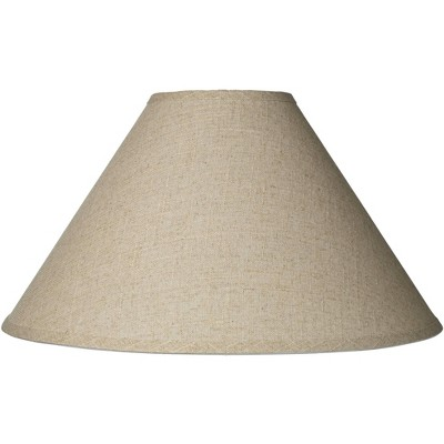 Brentwood Burlap Empire Lamp Shade Rustic Fabric with Harp 6x19x12 - Spider
