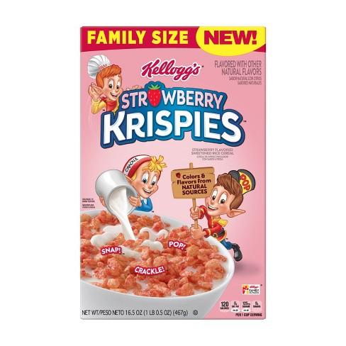 Strawberry Krispies Breakfast Cereal - 16.5oz - Kellogg's - image 1 of 6