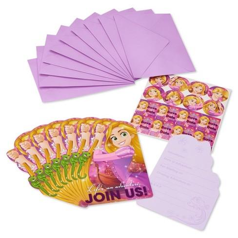 8ct Rapunzel Birthday Invitations Target