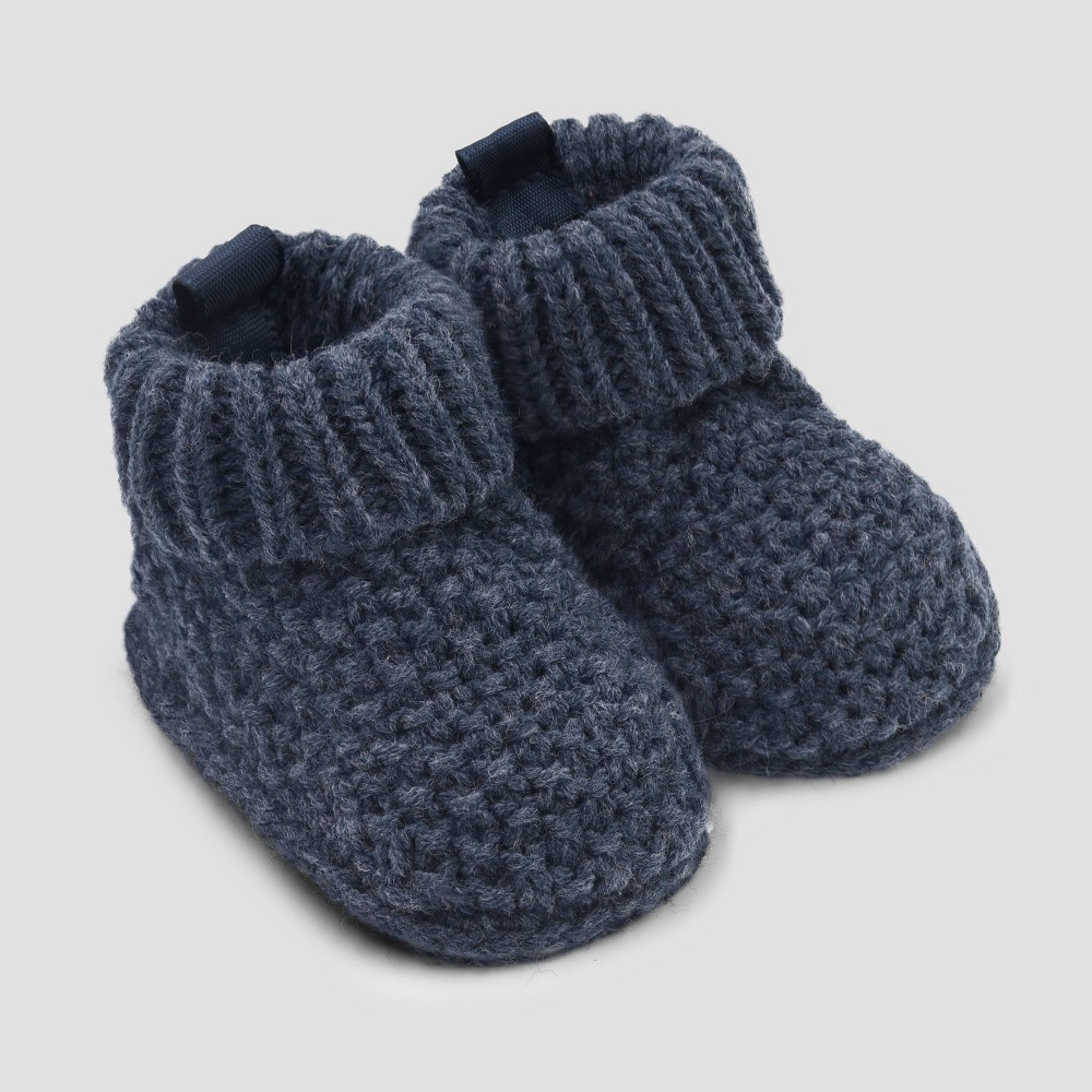 Baby Boys' Knitted Seed Slipper - Just One You made by carter's Blue Newborn