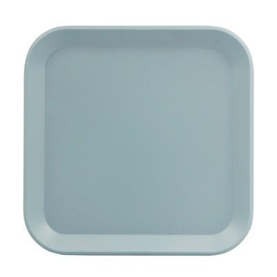 Square Melamine Salad Plate 8.5  Ripple Blue - Room Essentials™