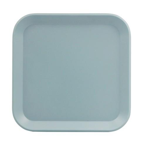 """Square Melamine Salad Plate 8.5"""" Ripple Blue - Room Essentials™ - image 1 of 1"""