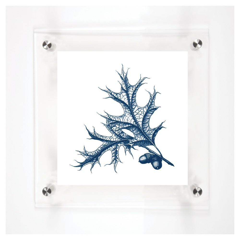 Mitchell Black Scarlet Oak Leaves Decorative Framed Wall Canvas Midnight (12