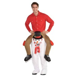 Ride-on Snowman Adult Costume Standard  - Amscan