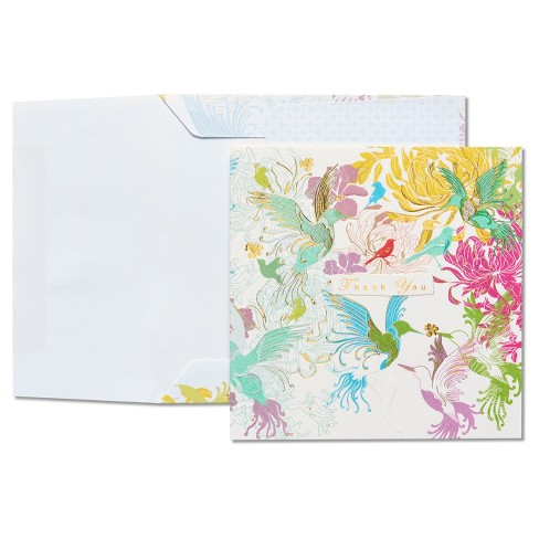 Papyrus Hummingbirds Thank You Card - image 1 of 4