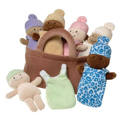 Creative Minds Basket of Soft Babies with Removable Sack Dresses