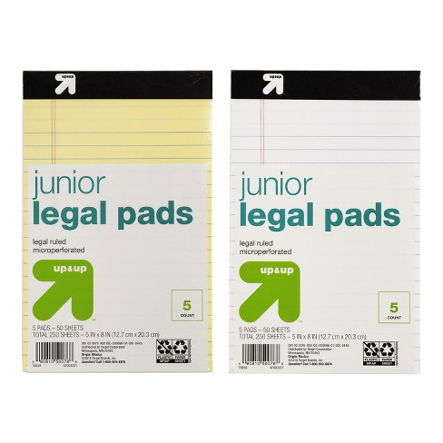 Legal Pads 5ct Yellow & White - Up&Up™ - image 1 of 1