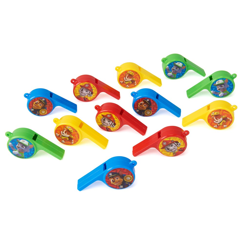 12ct Paw Patrol Whistles, Party Favors