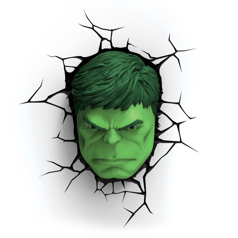 Image of 3D Led Light FX - Hulk Face Nightlight, Green
