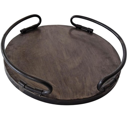 14 x 14 inch Round Metal Decorative Tray - Foreside Home & Garden - image 1 of 2