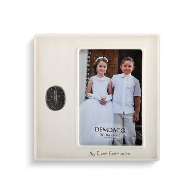 DEMDACO My First Communion Medallion Frame 8 x 8 - White