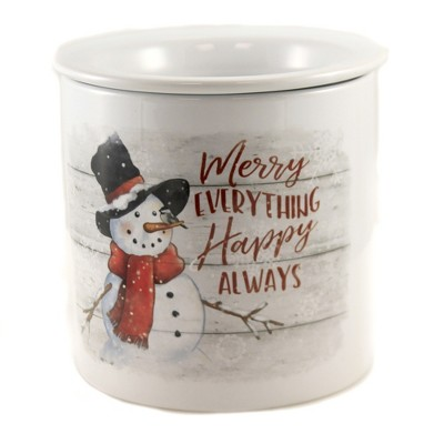 "Tabletop 5.5"" Merry Christmas Dip Chiller Snowman Party Christmas Carson Home Accents  -  Serving Bowls"