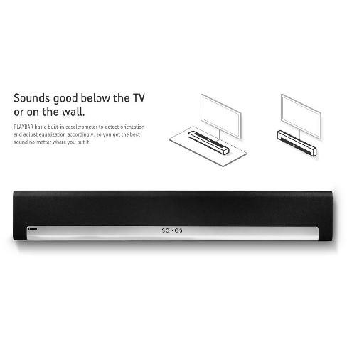Sonos PLAYBAR Wireless Sound Bar and Speaker & PLAYBAR Wall Mount Kit