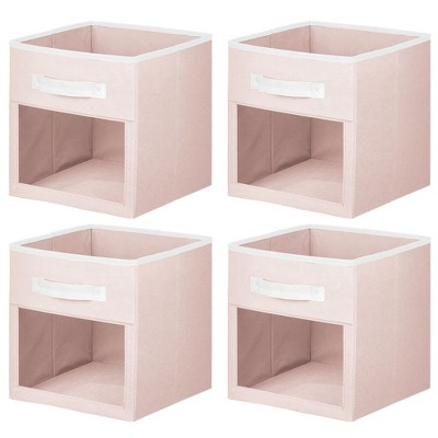 mDesign Kids Fabric Storage Organizer Cube - 4 Pack