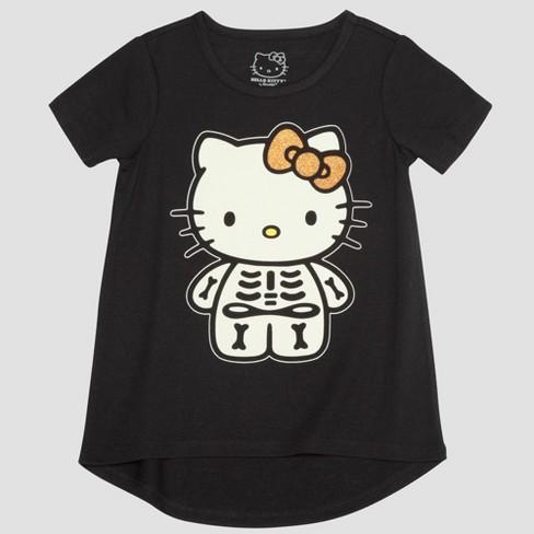 88652139c Toddler Girls' Hello Kitty Short Sleeve T-Shirt - Black : Target